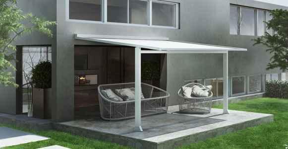 Sistema de protección solar para patios