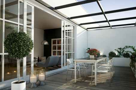 Sistema de protección con techo fijo